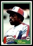 1981 Topps #710  Ron LeFlore  Front Thumbnail