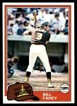 1981 Topps #653  Bill Fahey  Front Thumbnail