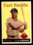 1958 Topps #417  Carl Furillo  Front Thumbnail