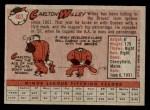 1958 Topps #407  Carlton Willey  Back Thumbnail