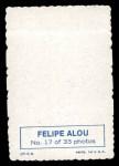 1969 Topps Deckle Edge #17  Felipe Alou    Back Thumbnail
