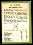 1963 Fleer #48  Al Jackson  Back Thumbnail