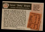 1955 Bowman #209  Smoky Burgess  Back Thumbnail