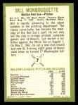 1963 Fleer #7  Bill Monbouquette  Back Thumbnail