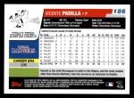 2006 Topps #186  Vicente Padilla  Back Thumbnail