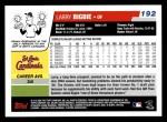 2006 Topps #192  Larry Bigbie  Back Thumbnail
