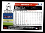 2006 Topps #215  Garret Anderson  Back Thumbnail