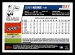 2006 Topps #227  Corey Koskie  Back Thumbnail