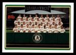 2006 Topps #285   Oakland Athletics Team Front Thumbnail