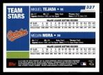 2006 Topps #327   -  Miguel Tejada / Melvin Mora Team Stars Back Thumbnail