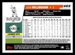 2006 Topps #469  Josh Willingham  Back Thumbnail