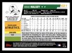 2006 Topps #421  Brad Halsey  Back Thumbnail