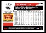 2006 Topps #424  Tony Womack  Back Thumbnail