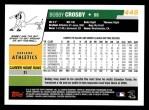 2006 Topps #448  Bobby Crosby  Back Thumbnail