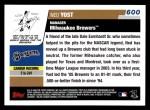 2006 Topps #600  Ned Yost  Back Thumbnail