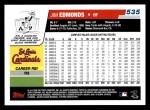 2006 Topps #535  Jim Edmonds  Back Thumbnail
