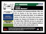 2006 Topps #592  Mike Hargrove  Back Thumbnail