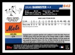 2006 Topps #642   -  Brian Bannister Rookie Card Back Thumbnail