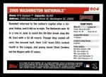 2006 Topps #604   Washington Nationals Team Back Thumbnail