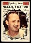 1961 Topps #570   -  Nellie Fox All-Star Front Thumbnail