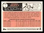 2015 Topps Heritage #4  Danny Duffy  Back Thumbnail