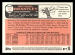 2015 Topps Heritage #150  Michael Brantley  Back Thumbnail