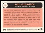 2015 Topps Heritage #296  Joe Girardi  Back Thumbnail