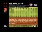 2007 Topps #193  Rod Barajas  Back Thumbnail