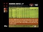 2007 Topps #182  Ramon Ortiz  Back Thumbnail