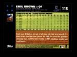 2007 Topps #118  Emil Brown  Back Thumbnail
