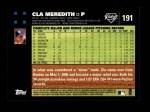 2007 Topps #191  Cla Meredith  Back Thumbnail