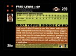 2007 Topps #269  Fred Lewis  Back Thumbnail