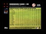2007 Topps #225  Robinson Cano  Back Thumbnail