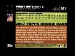 2007 Topps #261  Vinny Rottino  Back Thumbnail