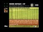 2007 Topps #333  Mark Kotsay  Back Thumbnail