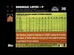 2007 Topps #348  Rodrigo Lopez  Back Thumbnail
