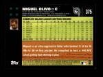 2007 Topps #375  Miguel Olivo  Back Thumbnail