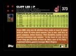 2007 Topps #373  Cliff Lee  Back Thumbnail