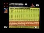 2007 Topps #361  Adam Kennedy  Back Thumbnail
