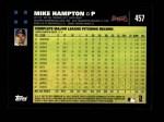 2007 Topps #457  Mike Hampton  Back Thumbnail