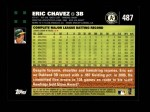 2007 Topps #487  Eric Chavez  Back Thumbnail