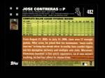 2007 Topps #482  Jose Contreras  Back Thumbnail