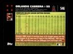 2007 Topps #546  Orlando Cabrera  Back Thumbnail
