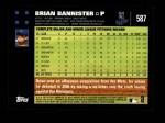 2007 Topps #587  Brian Bannister  Back Thumbnail
