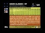 2007 Topps #541  David DeJesus  Back Thumbnail