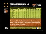 2007 Topps #536  Tom Gorzelanny  Back Thumbnail