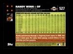 2007 Topps #527  Randy Winn  Back Thumbnail