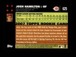 2007 Topps #625  Josh Hamilton  Back Thumbnail