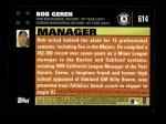 2007 Topps #614  Bob Geren  Back Thumbnail