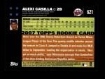 2007 Topps #621  Alexi Casilla  Back Thumbnail